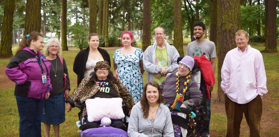 Self-advocates taking action group photo